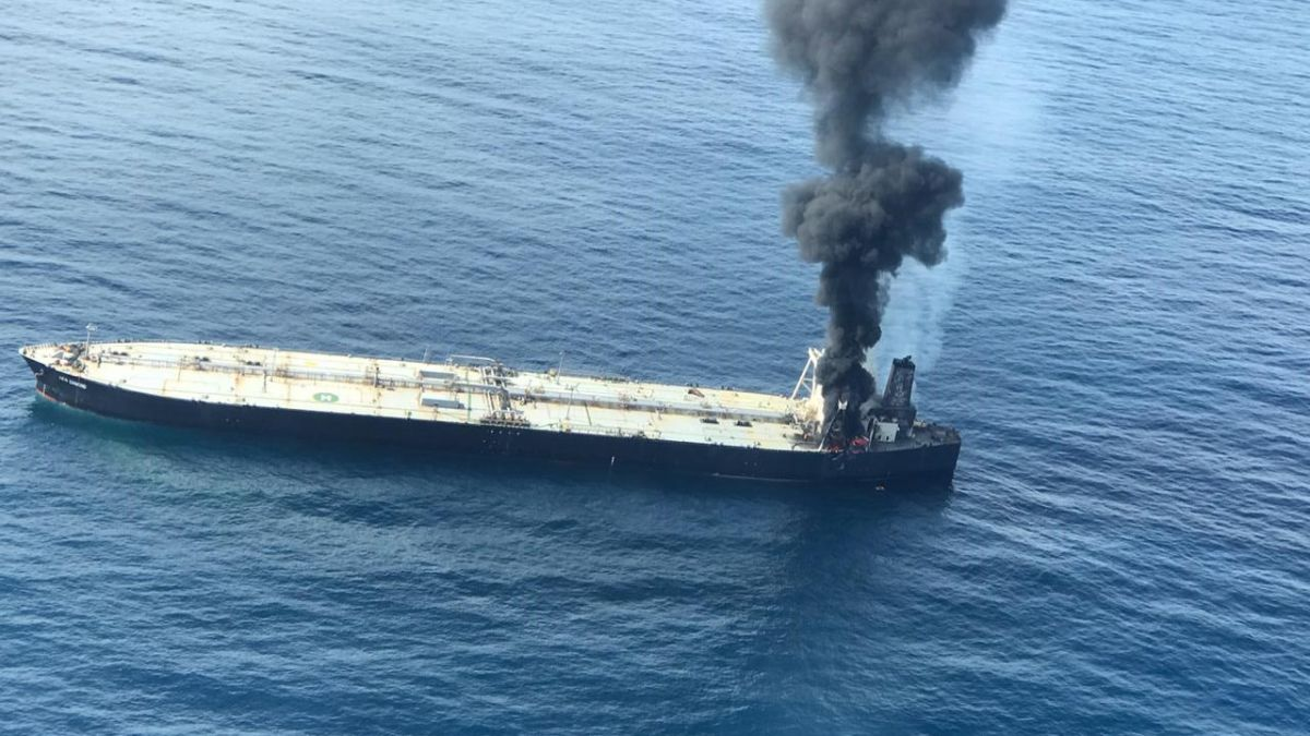 Ship fire causes largest chemical spill in Sri Lankan