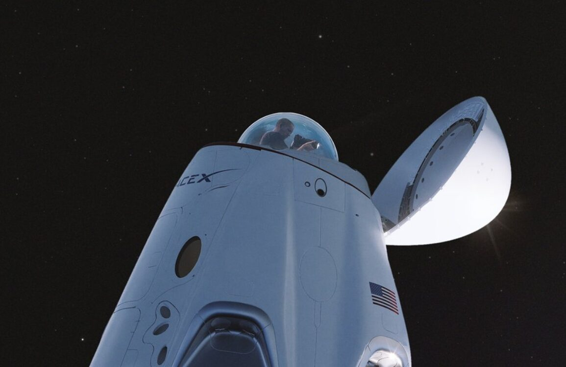 SpaceX Dragon Capsule Space View